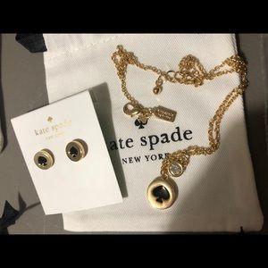 Kate Spade Spot the Spade Jewellery Set (black)